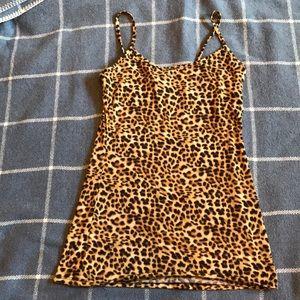 Tops - Cheetah print tank top